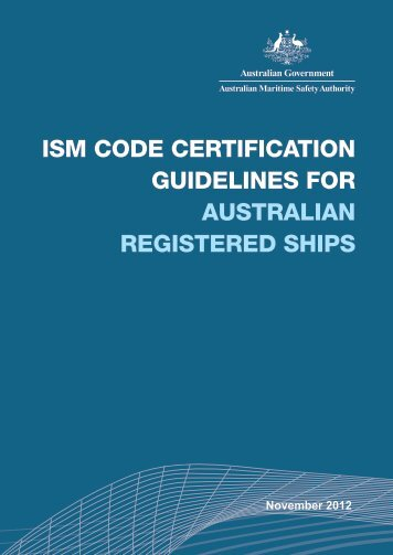 ISM Code Certification - Australian Maritime Safety Authority