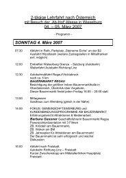2-tägige Lehrfahrt nach Österreich 04. – 05. März 2007 SONNTAG 4 ...