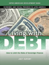 iii. the domestic market iv. debt and the economy v. towards safer debt
