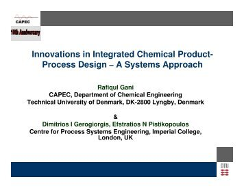 Process Design - CAPEC
