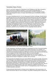 Traineeship in Espoo, Finnland Vom 01. Juni bis 30. August 2013 ...