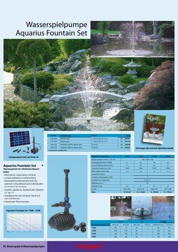 Wasserspielpumpe Aquarius Fountain Set