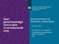Advies aangaande het restrictief gebruik van antibiotica en ... - SWAB
