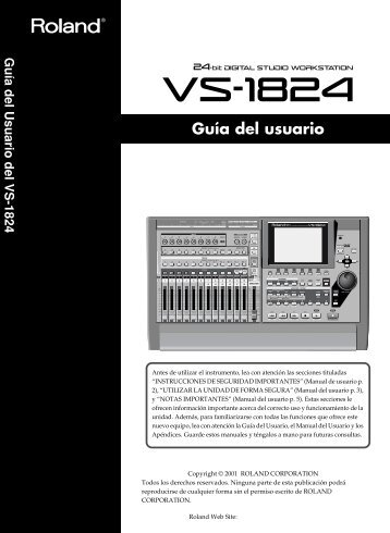 VS-1824 (Guia del usuario) - Casaveerkamp.net