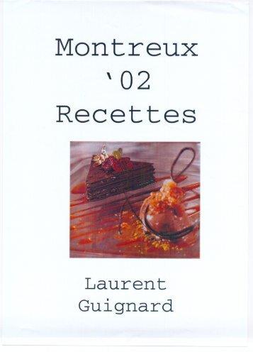 Montreux Recettes - Jeune Confiseur