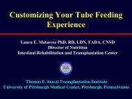 Customizing Your Tube Feeding Experience