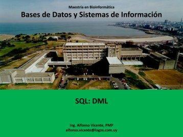 Bases de Datos y Sistemas de Información SQL: DML - Pedeciba