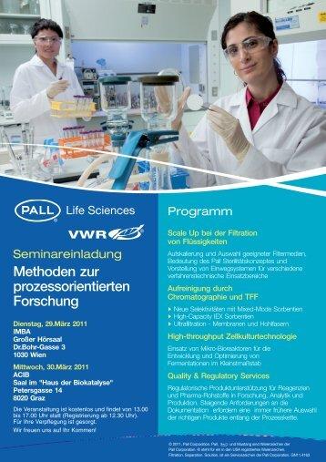 Methoden zur prozessorientierten Forschung - VWR-International ...