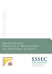 Mastère Spécialisé Stratégie et management des industries de santé