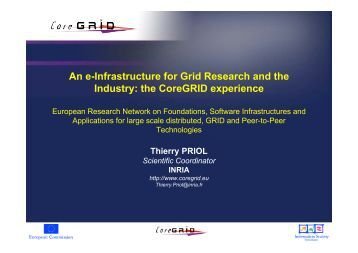 An e-Infrastructure for Grid Research and the Industry: the ...