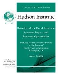 Broadband for Rural America: - Hudson Institute