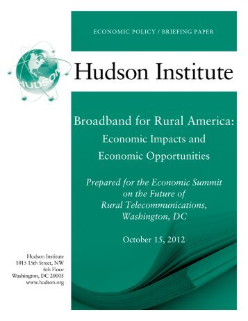 Broadband for Rural America: - Hudson Institute