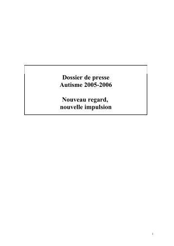 Plan Autisme 2005-2006 - Autisme France