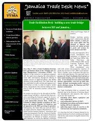 """""""Jamaica Trade Desk News"""" - Trinidad and Tobago Manufacturers ..."""