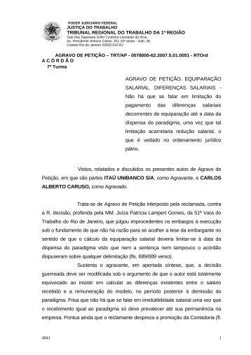 00780006220075010051#28-0 - Tribunal Regional do Trabalho da ...