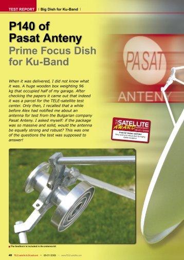Prime Focus Dish for Ku-Band P140 of Pasat Anteny
