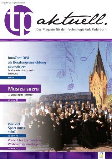 Musica sacra - TechnologiePark - Paderborn