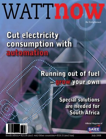 Cut electricity consumption with automation - Watt Now Magazine
