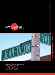 Rapport annuel 2012 - Rue Jean-Talon Est