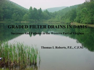 GRADED FILTER DRAINS IN DAMS