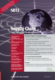 Supply Chain Supply Chain - Teknologisk Institut