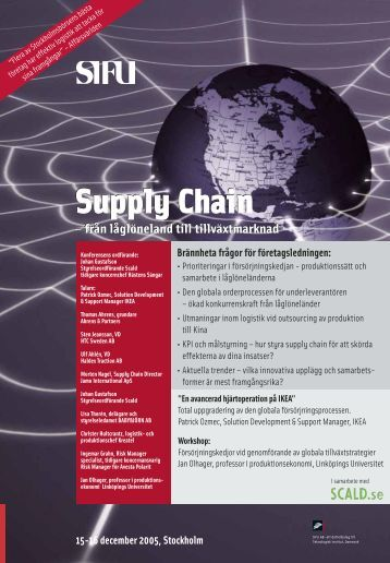 Supply Chain Supply Chain - Teknologisk Institut