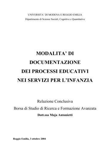 di documentazione dei processi educativi nei servizi per l ... - Aicod
