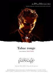 Tabac rouge - Théâtre du Passage