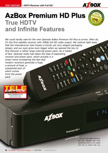 AzBox Premium HD Plus - TELE-satellite International Magazine
