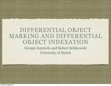 differential object marking and differential object indexation