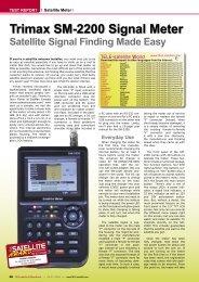 Antenna signal meter system, MSK 200 and MSK 200/50 - Satellite