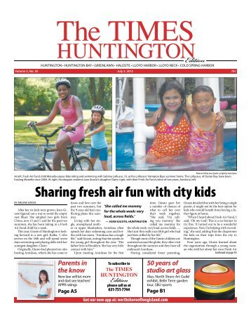 Sharing fresh air fun with city kids - Times Beacon Record ...