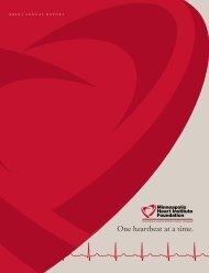 2010 Annual Report - Minneapolis Heart Institute Foundation