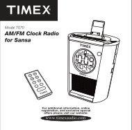 AM/FM Clock Radio for Sansa - TIMEX Audio
