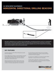 HORIZONTAL DIRECTIONAL DRILLING BEACONS - Ditch Witch