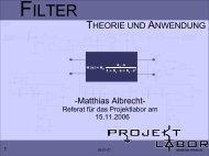 FILTER - Projektlabor