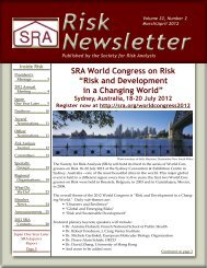 Volume 32, No. 2 (March/April) - The Society for Risk Analysis