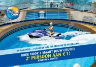 2e persoon aan €1! - Cruise Plus