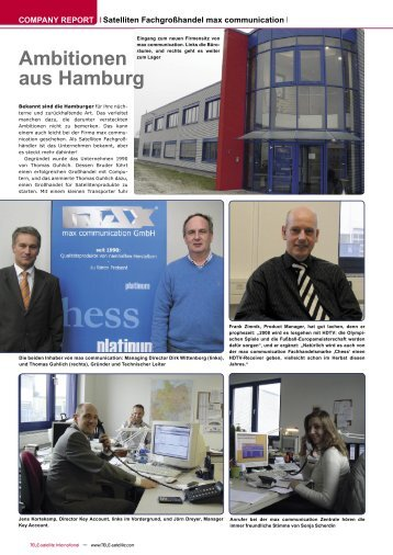 Ambitionen aus Hamburg - TELE-satellite International Magazine