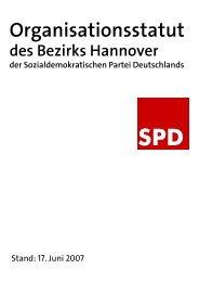 Organisationsstatut des SPD-Bezirks Hannover