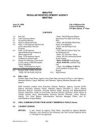 minutes regular redevelopment agency meeting - City of Watsonville