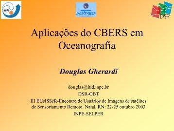 Aplicações do CBERS em Oceanografia - INPE/OBT/DGI
