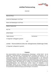 Download Partnervertrag - WinDiab