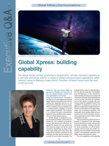Global Xpress: building capability - Satellite Evolution Group