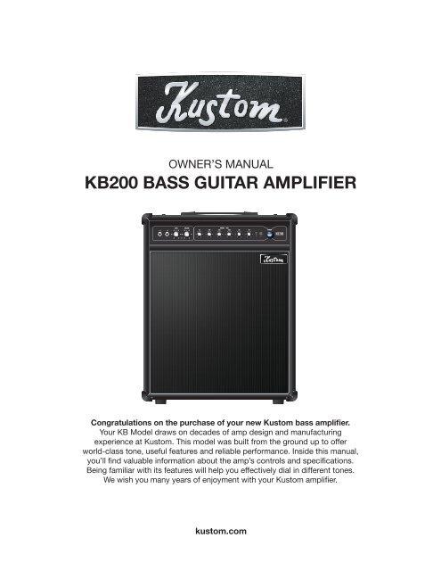 KB200 BASS GUITAR AMPLIFIER - MyDukkan.com