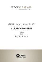 """GEBRUIKSAANWIJZING CLEARâ""""¢440 SERIE - Widex"""