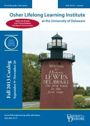 Download the Fall 2013 catalog - Osher Lifelong Learning Institutes ...
