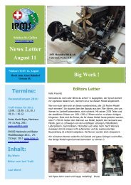 Newsletter August 2011 - Ipms-sg.ch