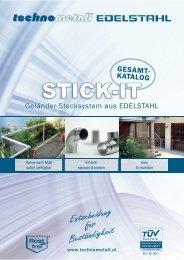 STICK-IT Gesamtkatalog - technometall EDELSTAHL