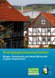 Broschüre zu Energiegenossenschaften - Kommunal Erneuerbar